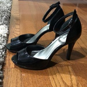 Style and Co. Black Open Toe Heels 8.5